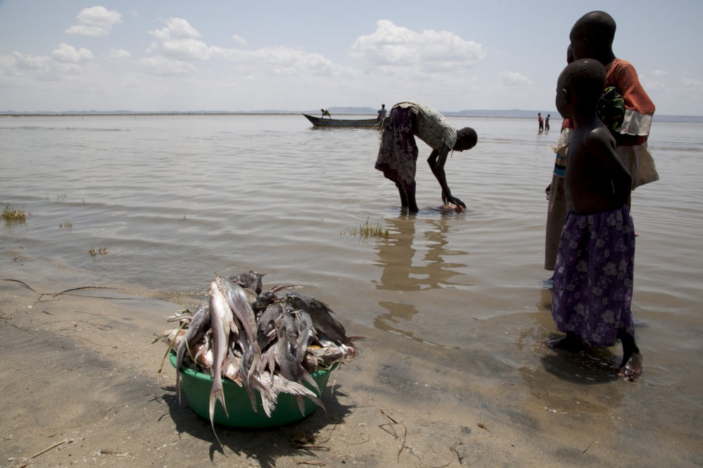 Fishermen at Lake Turkana  © photograph by Jane Baldwin