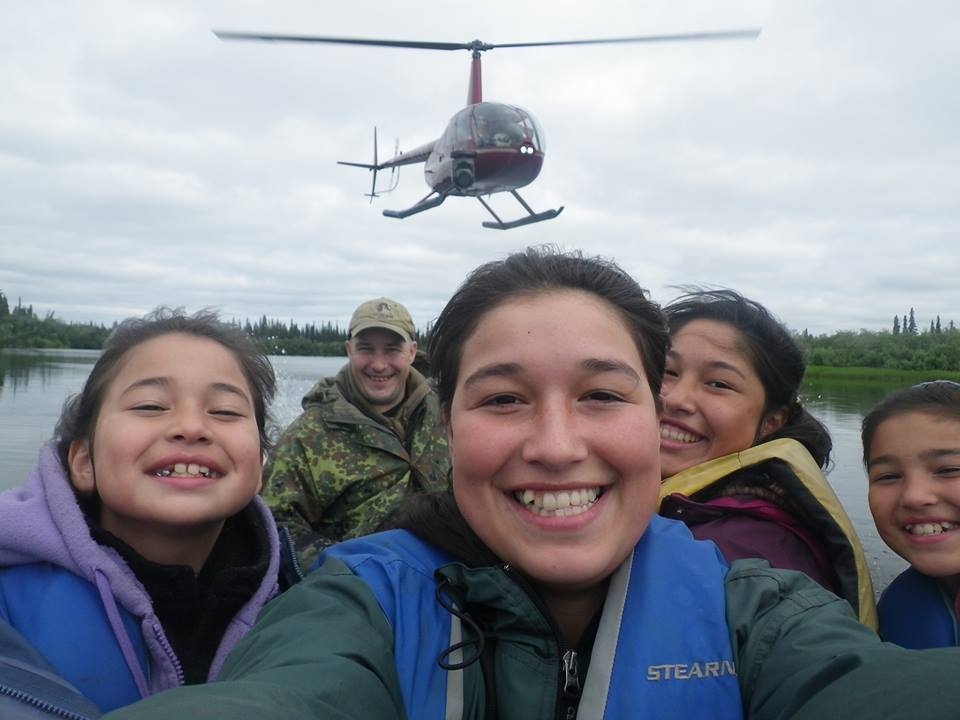 The Hailstones are one of our favorite Northwest Alaska Families! Here one of our R44 helicopters is shooting aerials of the family navigating a river near Noorvik, Alaska for the Life Below Zero series. Photo © Hailestones.