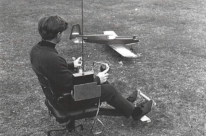 "A very young Bob Young (c 1969) with his ""flying-chair""."