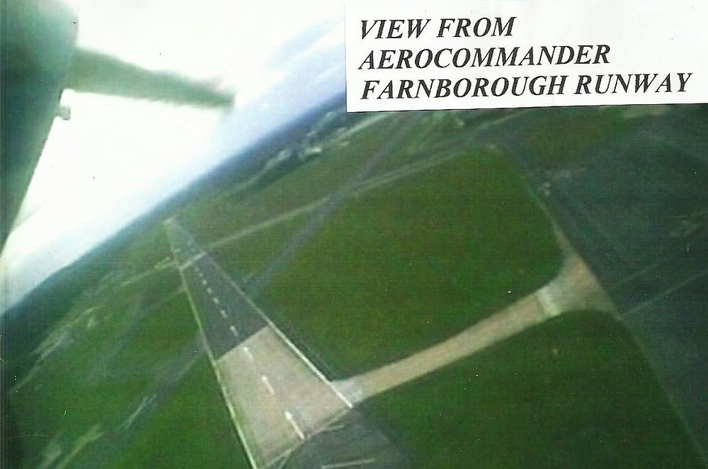 A view up the main runway at Farnborough UK.