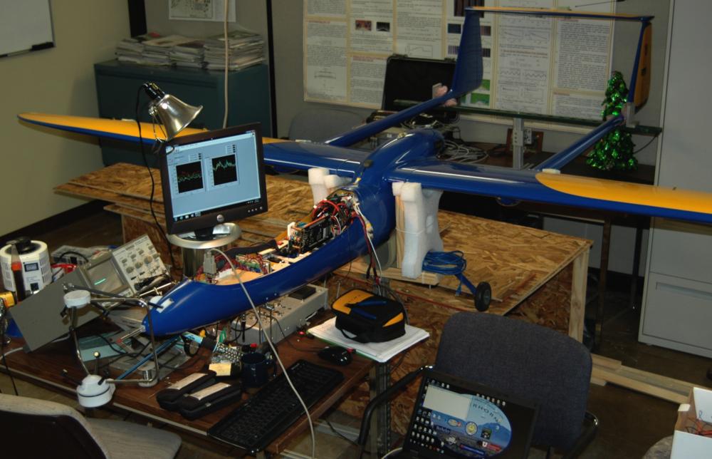 Notre Dame Flamingo F-18 in the Notre Dame laboratory.