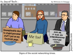 funny cartoon about social photos reputation management