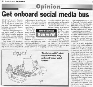 Social Media in tire business