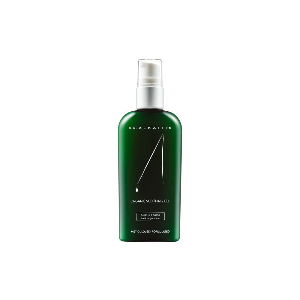 Organic Soothing Gel - $45   Moisturizing Gel  If you prefer oil-free, this aloe-based gel is a refreshing alternative.