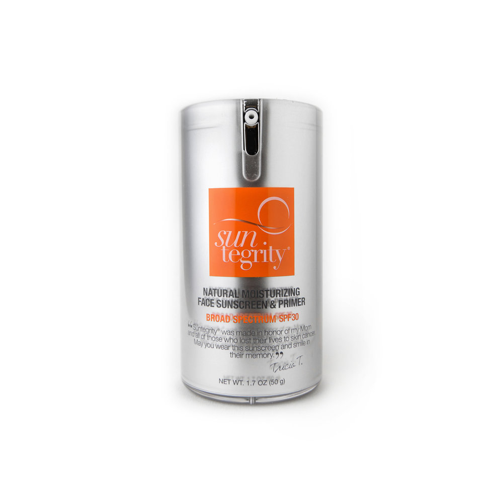 Moisturizing Sunscreen and Primer • $45   Primer-like finish   Broad-spectrum UVA/UVB protection. SPF 30.