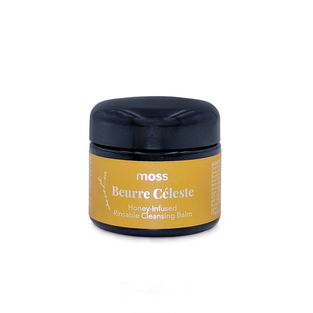 Beurre Céleste Rinsable Cleansing Balm • $70   Cleansing balm  Moisture-rich balm melts off makeup and sunscreen, rinses easily. Use as 1st step in double cleanse.
