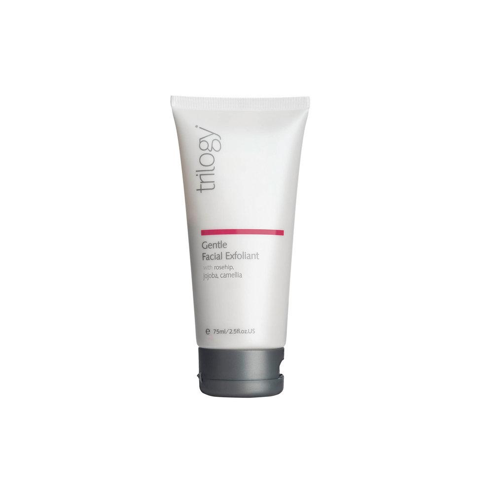 Gentle Facial Exfoliant • $39   Gentle exfoliant  Jojoba wax spheres take away surface buildup that can clog pores, encourage acne.