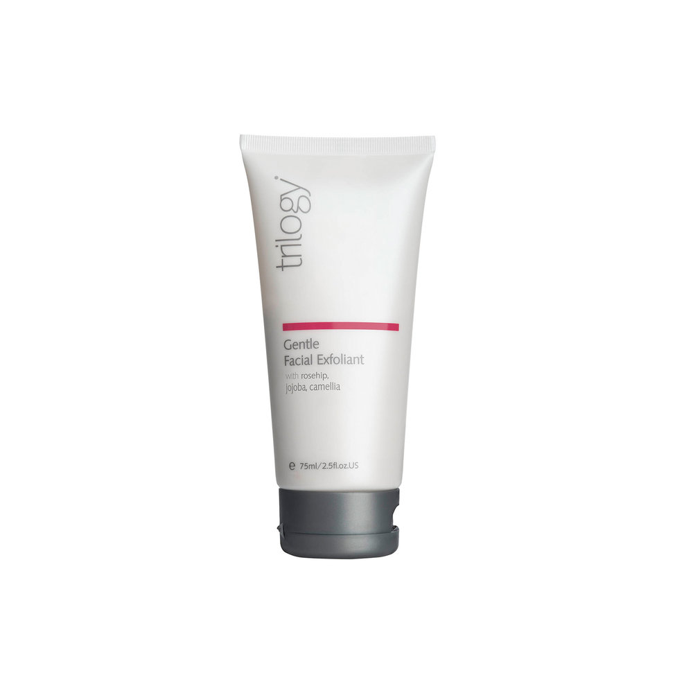 Gentle Facial Exfoliant • $39   Gentle exfoliant  Jojoba wax spheres take away surface buildup that can clog pores, encourage acne.
