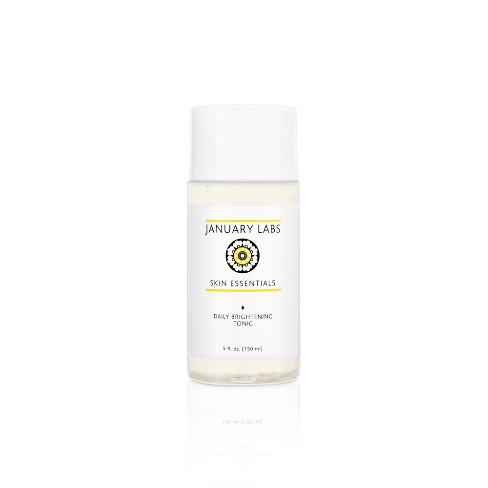 Brightening Tonic • $28   Hydrating toner   Lactic acid improves moisture, anti-inflammatories soothe.