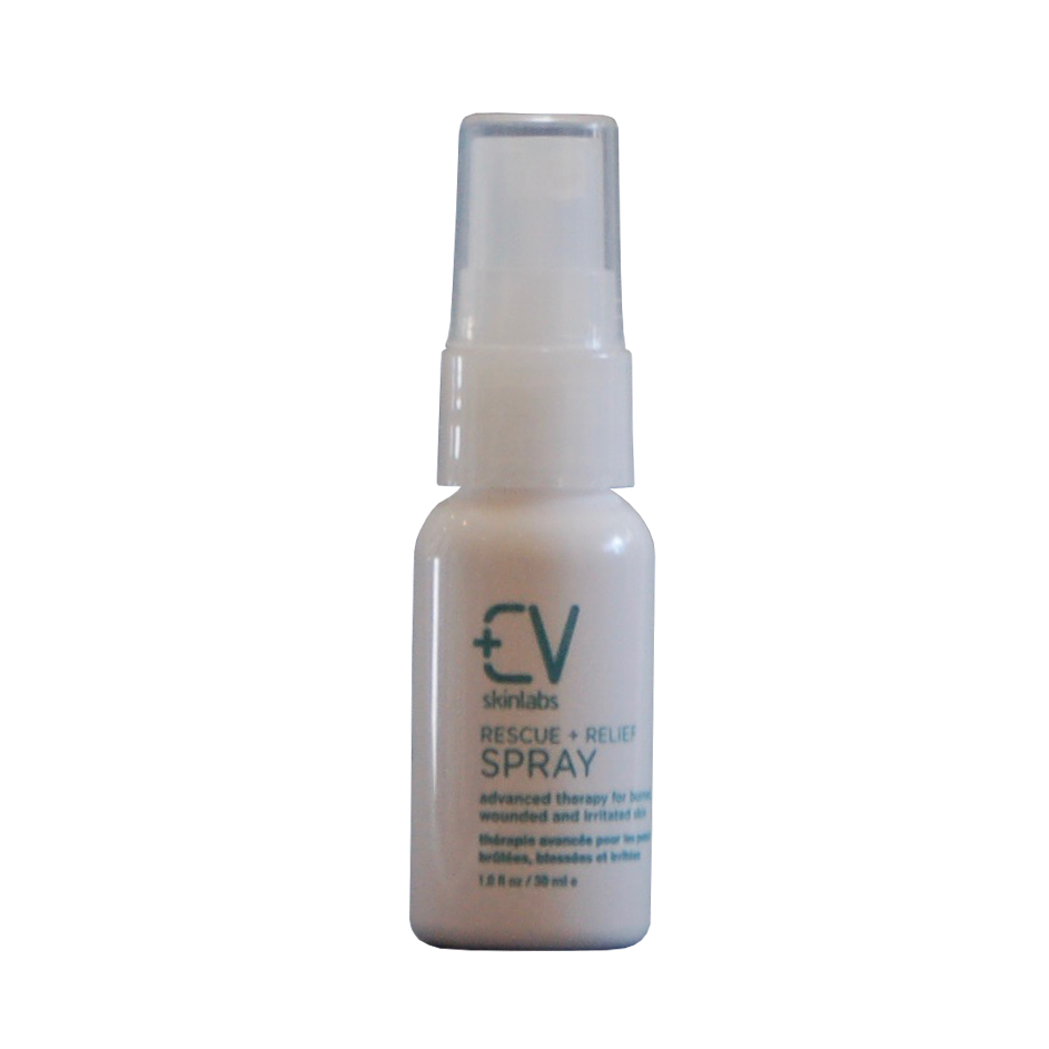 Rescue + Relief Spray • $15   Irritating situations  Soothing mini-mist for aggravated skin (sunburns, heat rash, itchy days, razor burn).