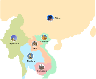 Countries surrounding China | Commentary use