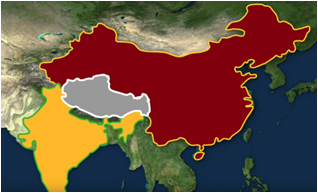 The borders of China, Tibet and India | Commentary use