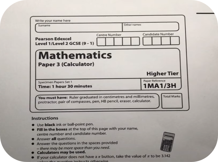 Revise Edexcel GCSE Maths Higher Paper 3   4 Uploads