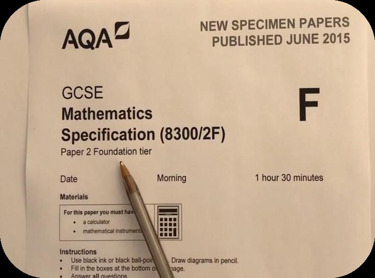 Revise AQA GCSE Maths Foundation Paper 2   3 Uploads