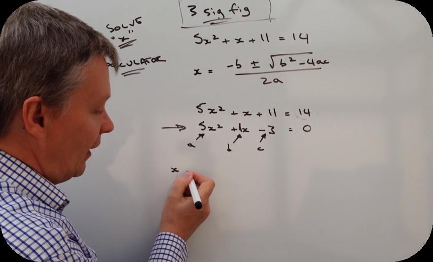 Using the quadratic formula   6 Uploads