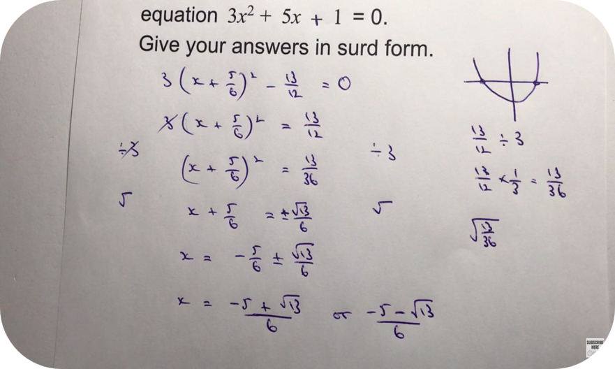 Completing the Square - Higher Level   3 Uploads