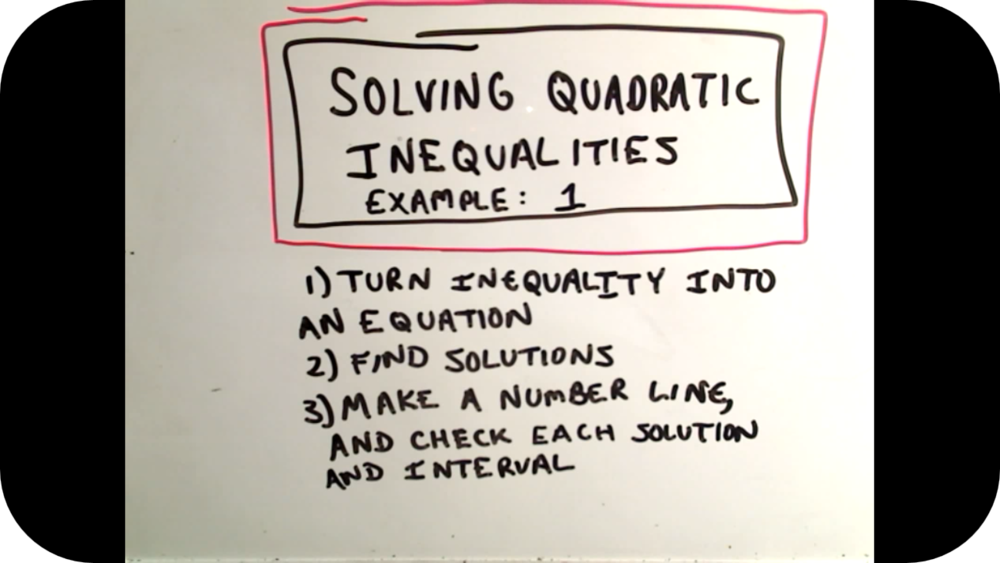 Quadratic Inequalities   10 Uploads