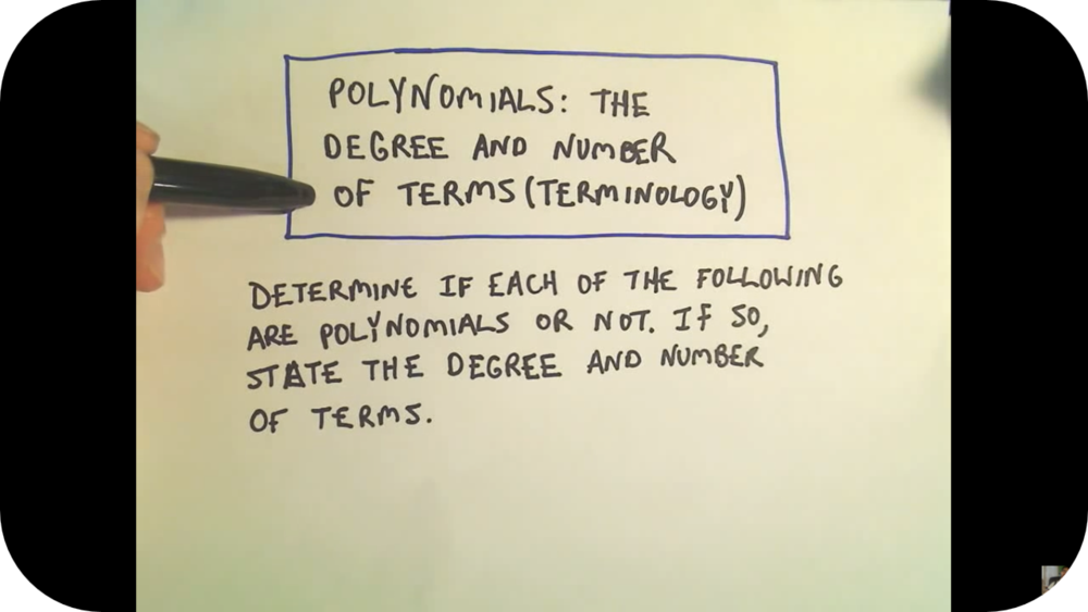 Polynomials: Introduction   18 Uploads