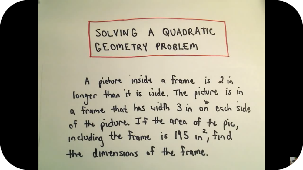 Quadratic Equations: Word Problems   16 Uploads