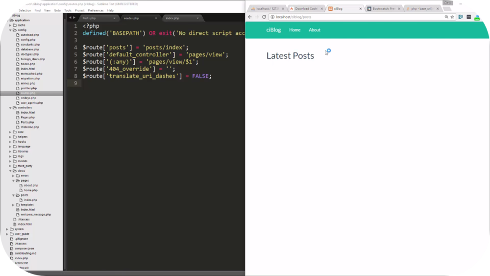 Codeigniter Blog App   8 Uploads