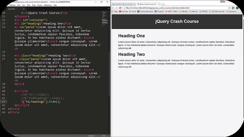 jQuery Crash Course   5 Uploads
