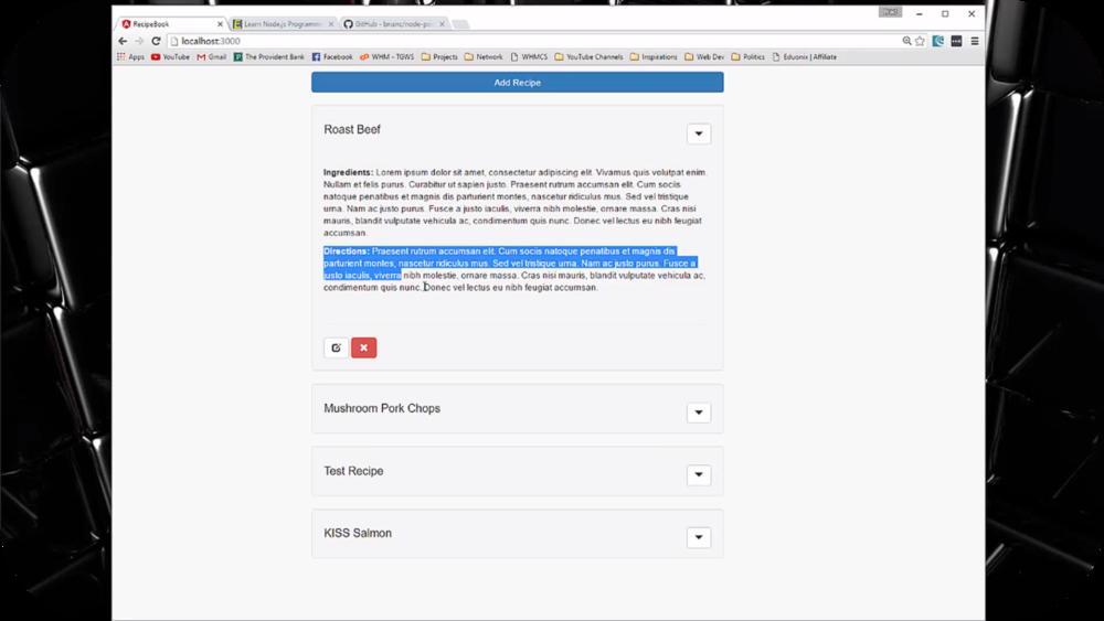 Node.js & PostgreSQL Recipe App   7 Uploads