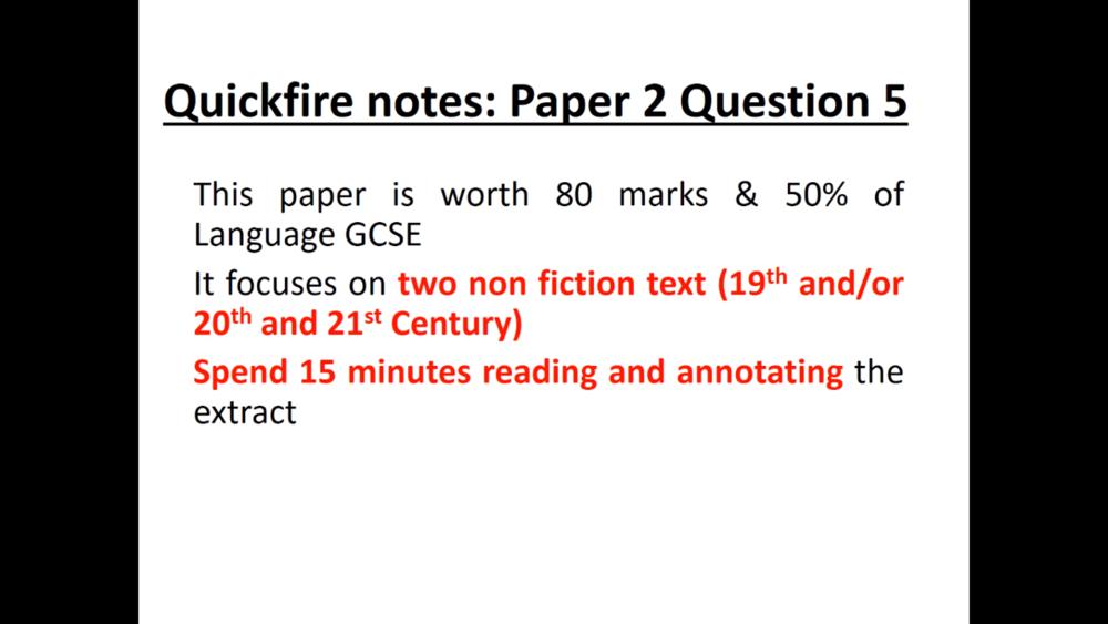 QUICKFIRE NOTES ENGLISH LANGUAGE PAPER   8 Uploads