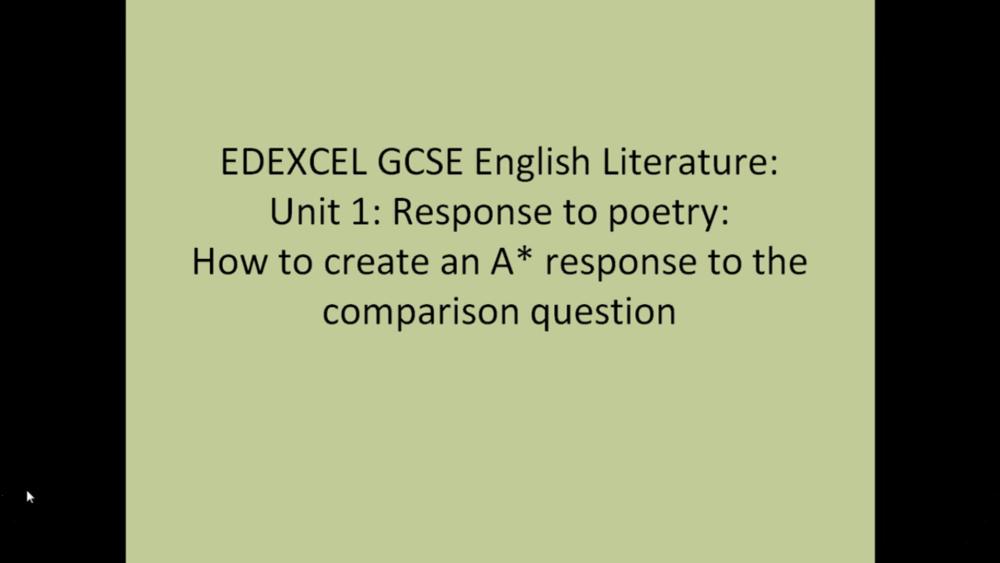 EDEXCEL GCSE Literature   8 Uploads
