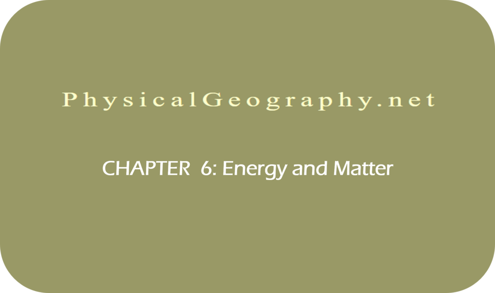 CHAPTER 6: Energy and Matter   9 Uploads