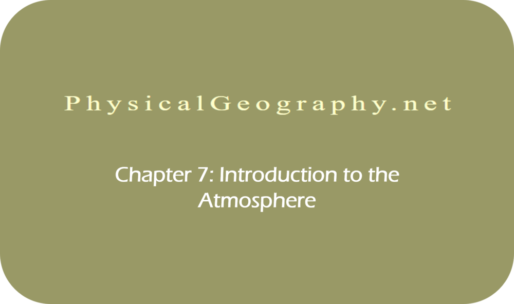 CHAPTER 7: Introduction to the Atmosphere   26 Uploads