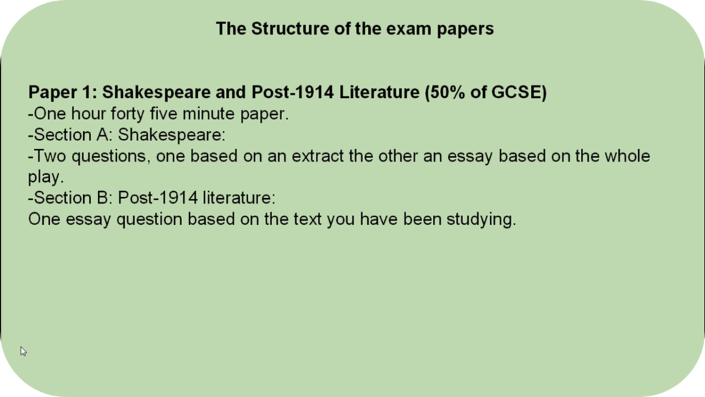 New EDEXCEL GCSE Literature Exams   22 Uploads