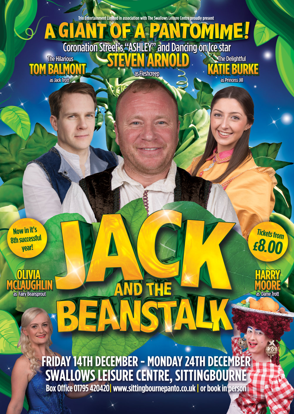 Jack And The Beanstalk  -Tour   December 2018    Knowsley Leisure & Culture Park Liverpool  Marine Hall, Fleetwood  Swallows Leisure Centre, Sittingbourne, Kent    Find Out More →