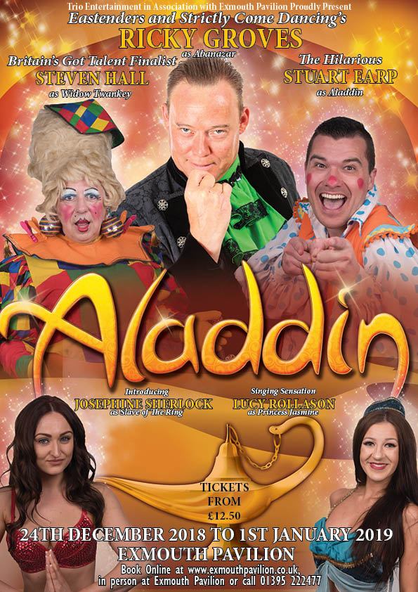 Aladdin - Tour   December 2018 - January 2019    Melton Theatre, Melton Mowbray  Exmouth Pavilion, Exmouth  Majestic Theatre, Retford    Find Out More →