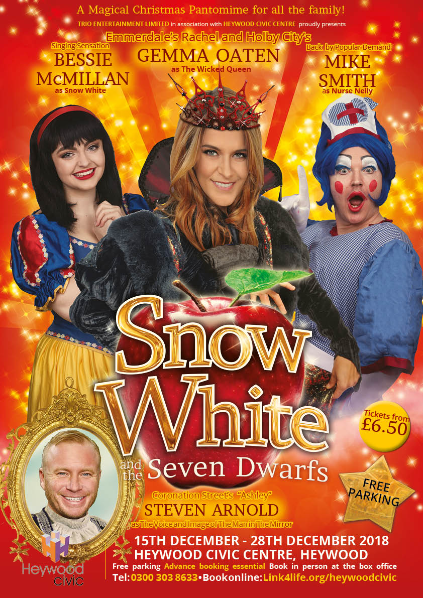 Snow White  December 2018   Heywood Civic, Heywood   Find Out More →