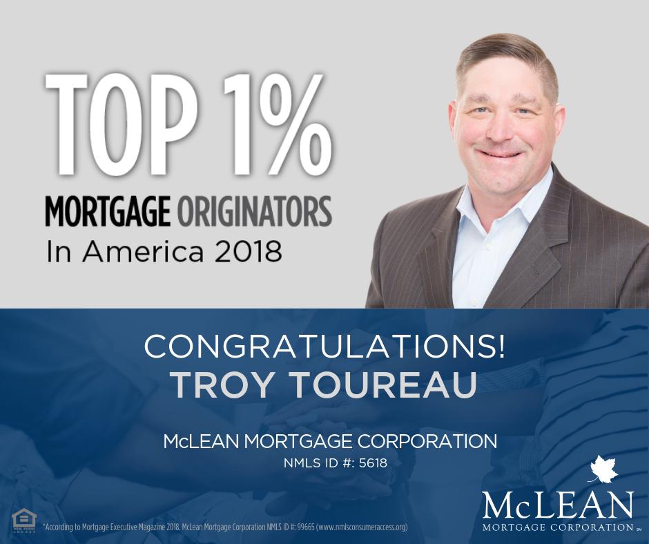 Top 1% Mortgage Originators 2018