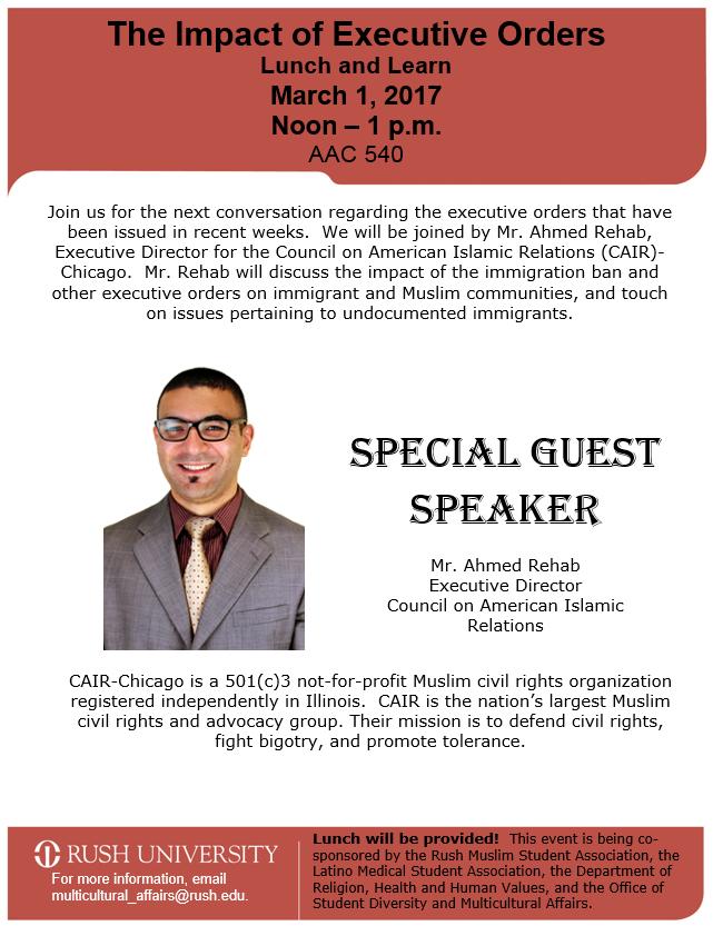 Ahmed Rehab to Speak at Rush University — CAIR-Chicago
