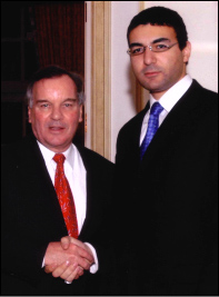 Ahmed Rehab and Mayor Richard Daley