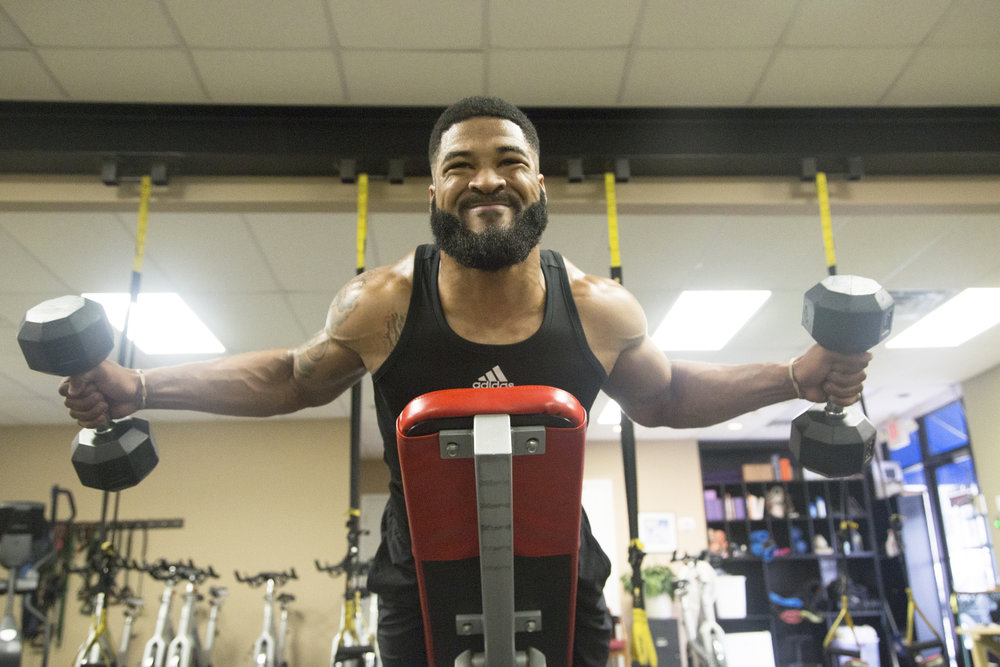 2018-3-29 NFL Prospect Dre Hall at Columbia Mid South 5 Fitness 01.jpg