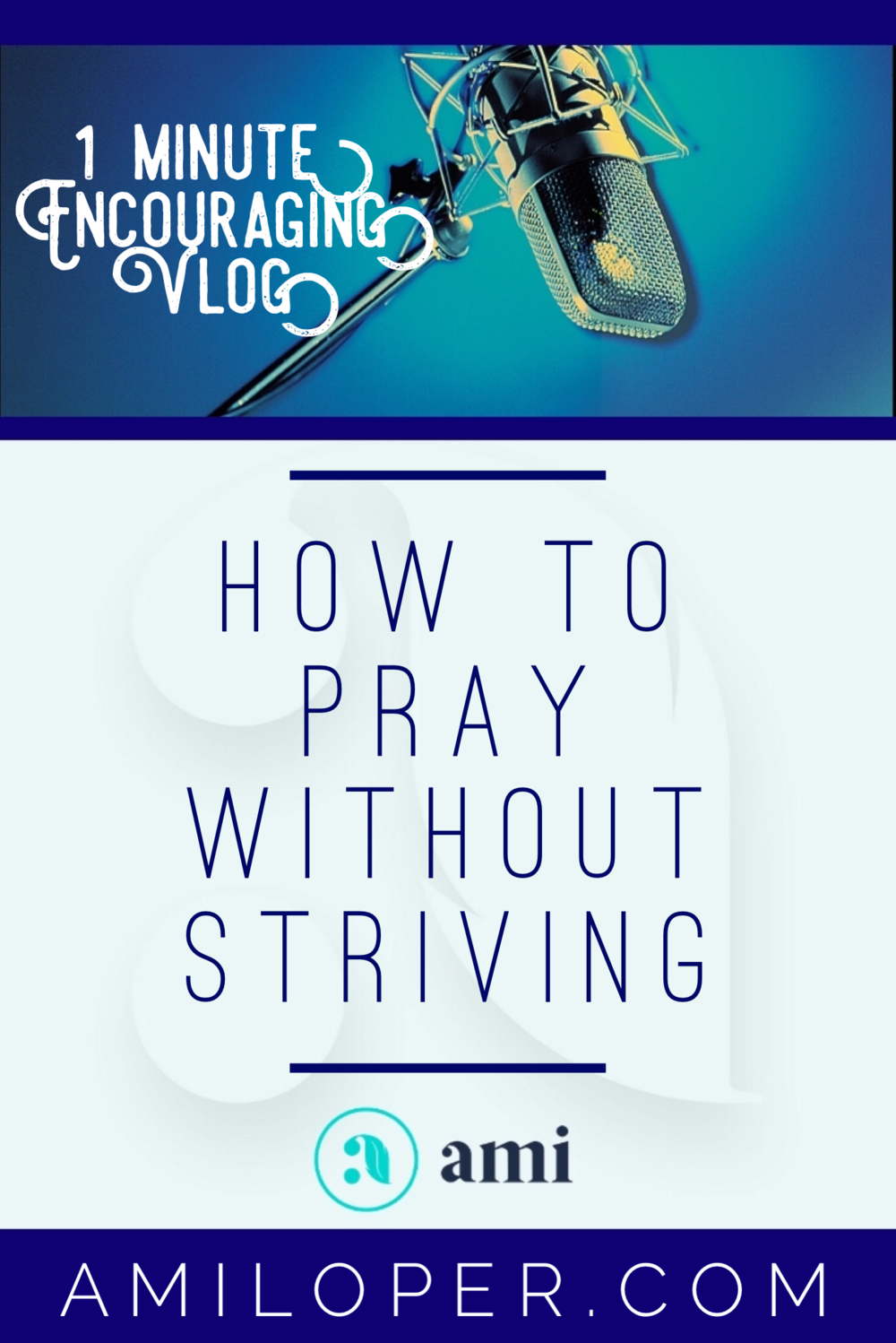 """It seems to me that there will always be something out of my reach. But sometimes my attitude implies I think I have to persuade God to come through! Recently He told me, """"Ami, this is not a tug of war! We're on the same side!"""" #Prayer #Prayers #Vlog"""