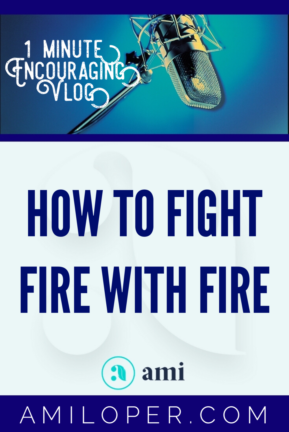 "I am thrilled to be bringing you this very important video teaching series, ""Fighting Fire with Fire."" I hope you enjoy it and allow the Holy Spirit to speak to you through it. #Freebies #SpiritualWarfare #Vlog"