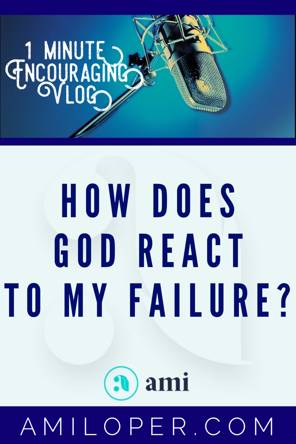 God's reaction to my failure often surprises me. He doesn't react like humans do. As soon as repentance takes place, He is ready to move forward with me! There is no protracted guilt trip or silent treatment. He forgives and moves forward. #Failure #Vlog