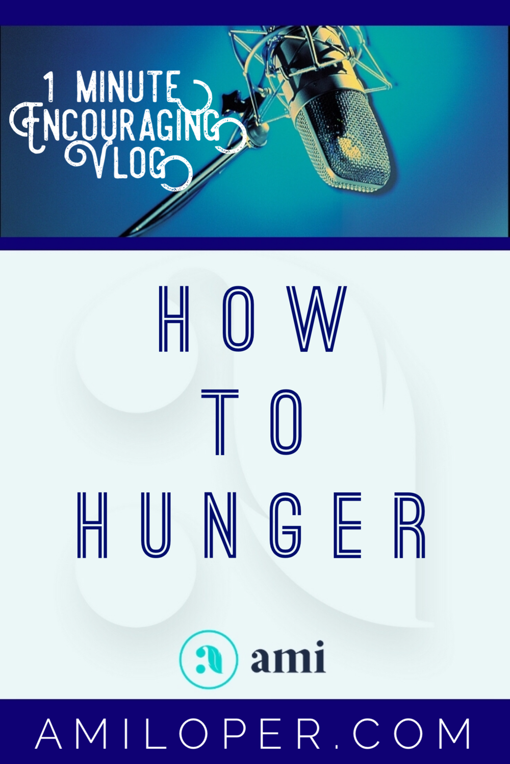 Are we hungry enough? When we begin to feel hunger pangs in our heart, is it our cue to look for anything to alleviate the hunger or is it our cue to stir ourselves into an even deeper hunger that insists on true spiritual food? #TrustingGod #Vlog