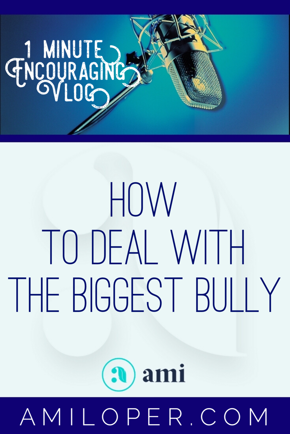 Many of us have dealt with bullying. But there is one bully who is the most dangerous. Do you know who it is? #Bully #Selfcare #SpeakLife #vlog