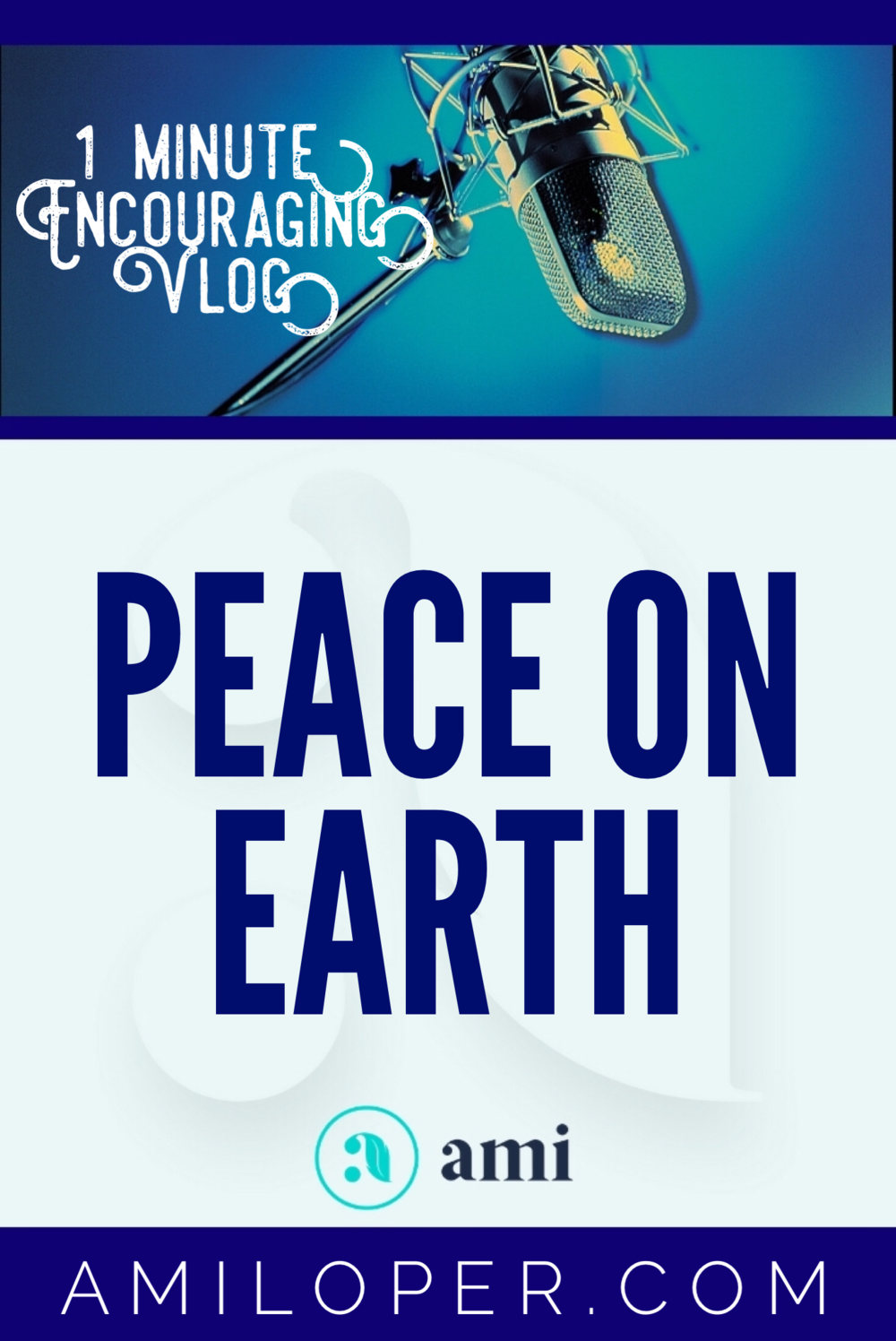 """""""Peace on Earth""""? Are you kidding? Has there ever been even a moment when this Earth was at peace? And yet, this is the declaration of the angels to the shepherds. What can they be talking about? #Peace #PeaceOnEarth #vlog"""