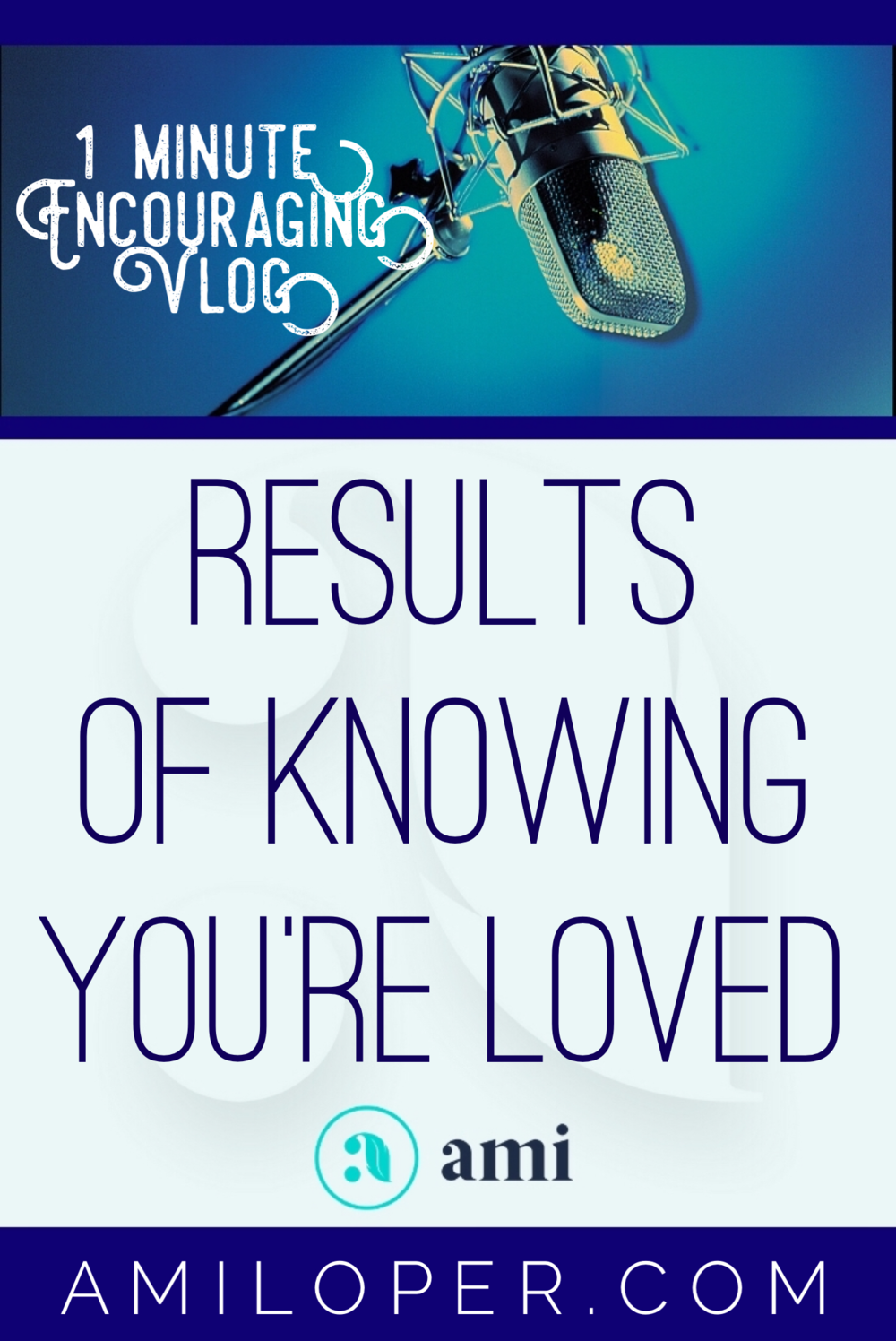 I've talked for the last couple of weeks about our need for knowing the love of God and how our stability and strength are effected by it. This week, let's look at a few other results of knowing we're loved! #GodLovesYou #vlog