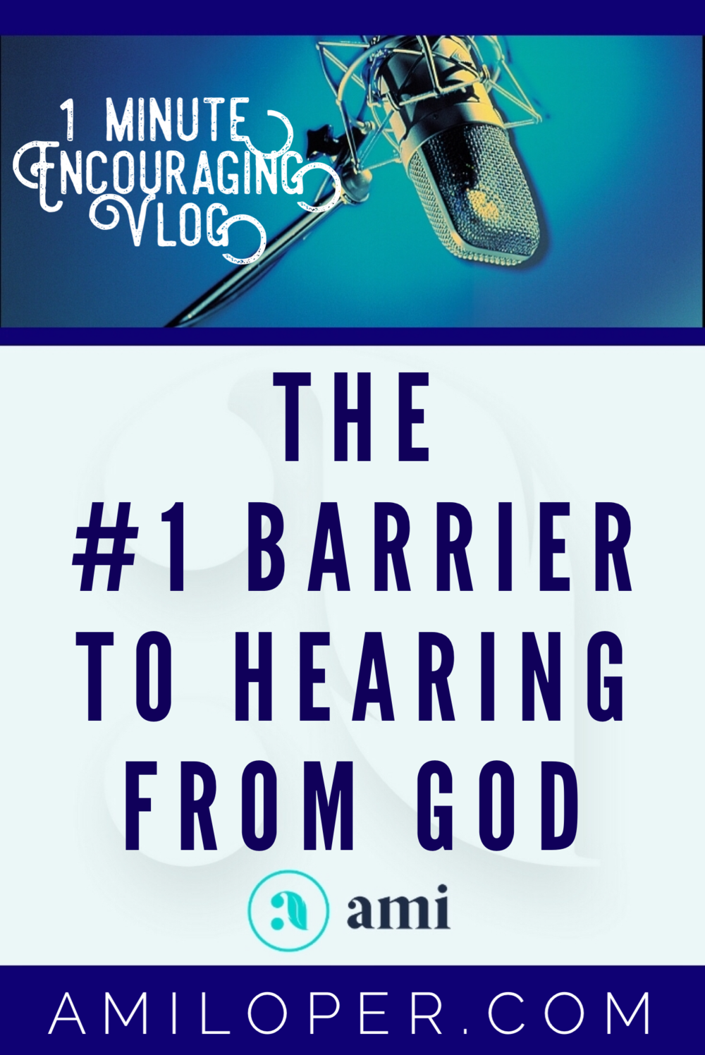 What could be inhibiting your ability to hear from God? Last week we learned the #1 requirement to hear from God and today we discuss the #1 barrier. #Prayer #TrustGod #Vlog