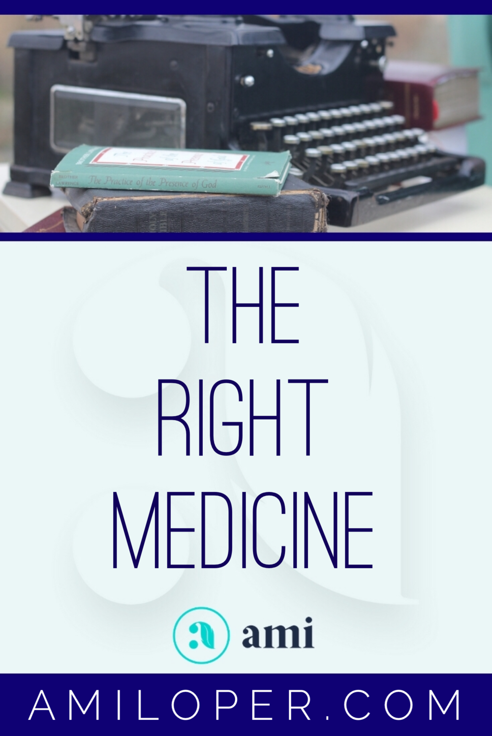 "Feeling out of sorts? The Lord knows better than you do what the  core issue is and what will cure it. We may run to good things to try to  find relief, but unless it is the RIGHT thing, we may be taking the  wrong ""medicine.""   #ChristianBlog"