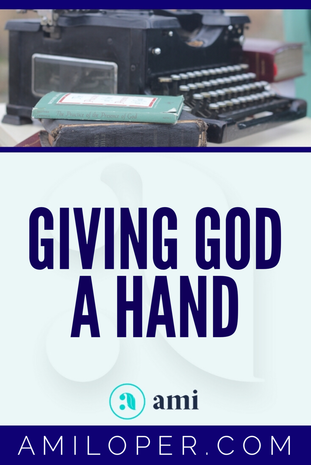 I know we're supposed to cooperate with God, work alongside Him, following His lead. But sometimes I'm tempted to take the reins and control things. When fear takes over, trust evaporates. #control #ChristianBlog