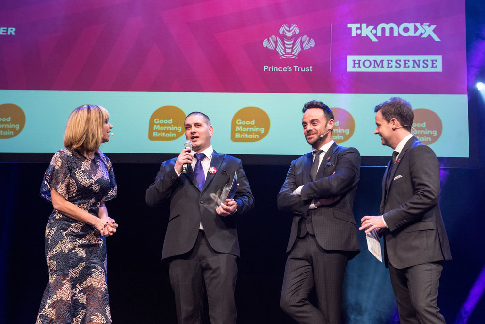 Mentor of the Year - On stage with Kate Garraway and Ant & Dec 2.JPG