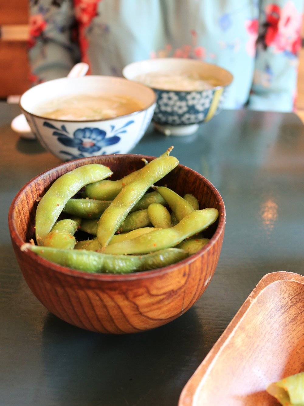 Soupes miso shiro & edamamés